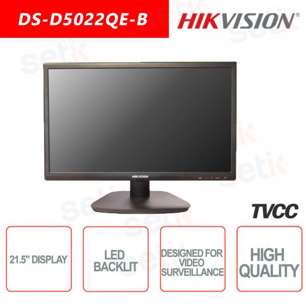 Monitor Hikvision 21.5 Pollici Retroilluminato - Adatto per Videosorveglianza