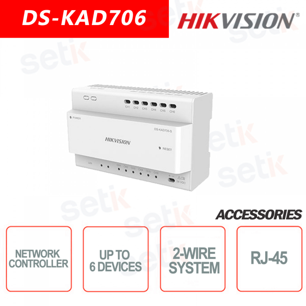 Data / Power distributor for two-wire system - Up to 6 Devices - Hikvi