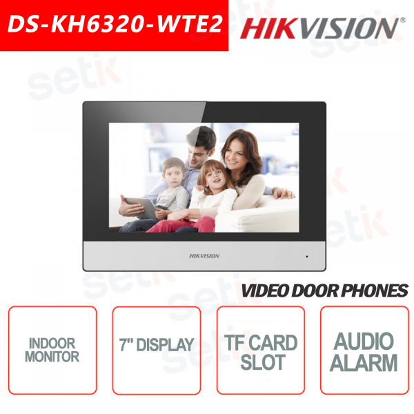 Indoor station Hikvision WIFI 7 Inch Display + TF Card microSD slot and Snapshot - W