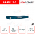 Hikvision Switch 16 Ports 10/100/1000 Mbps RJ45 Network sw