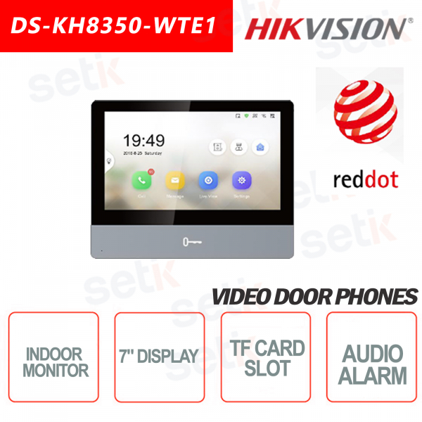 Indoor Station Hikvision 7 Inch Display + TF Card MicroSD slot and Snap