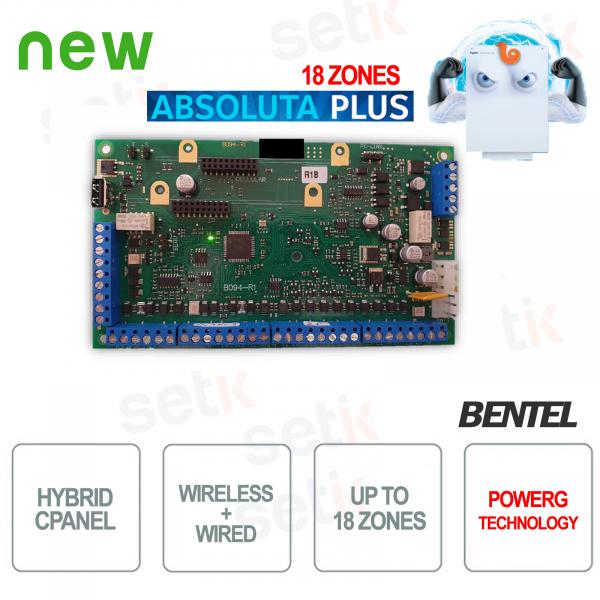 Central Burglar Alarm Wired Bentel Wireless Absoluta Plus 18 Zones