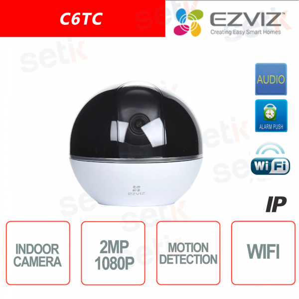 C6TC Ezviz Telecamera IP da interno WIFI 2MP Rotante Motorizzata 4mm Hikvision IR