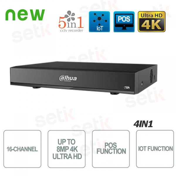 DVR 16 Canali Hd cvi Ahd Tvi Analogico Ip 8MP 4K IOT Dahua