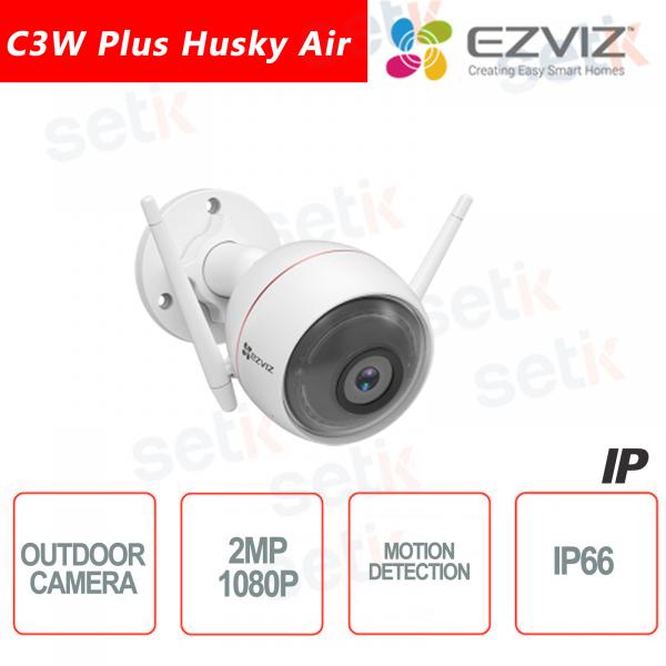 C3W Ezviz Telecamera Husky Air IP da esterno WIFI 2MP 2.8mm Sirena Luce Strobo Hikvision