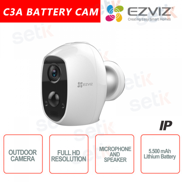 Ezviz Telecamera Senza Fili da esterno WIFI 2MP Batteria Sensore PIR