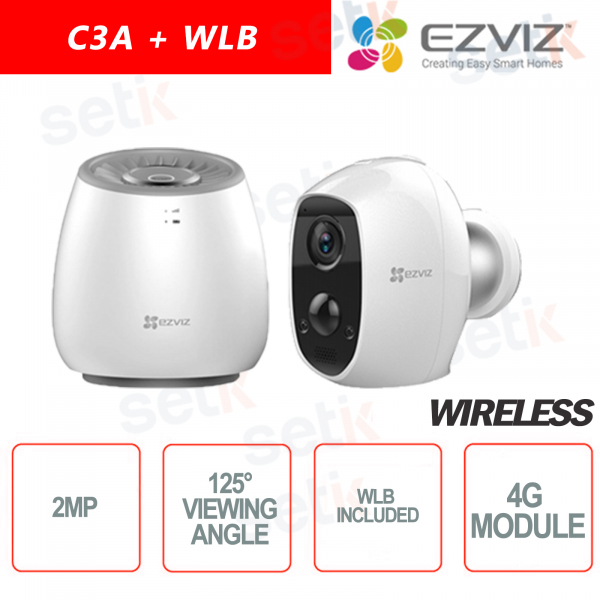 EZVIZ KIT Wireless C3A + WLB Base 4G battery camera