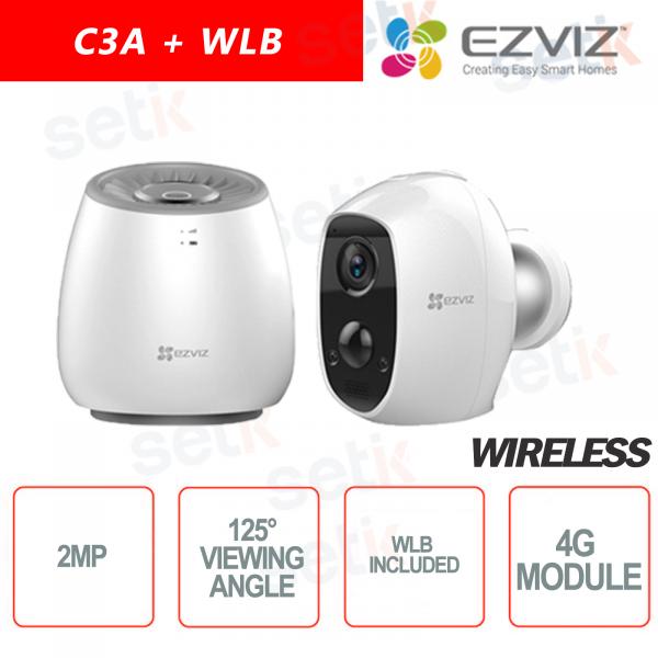 EZVIZ KIT Wireless Telecamera batteria C3A + WLB Base 4G