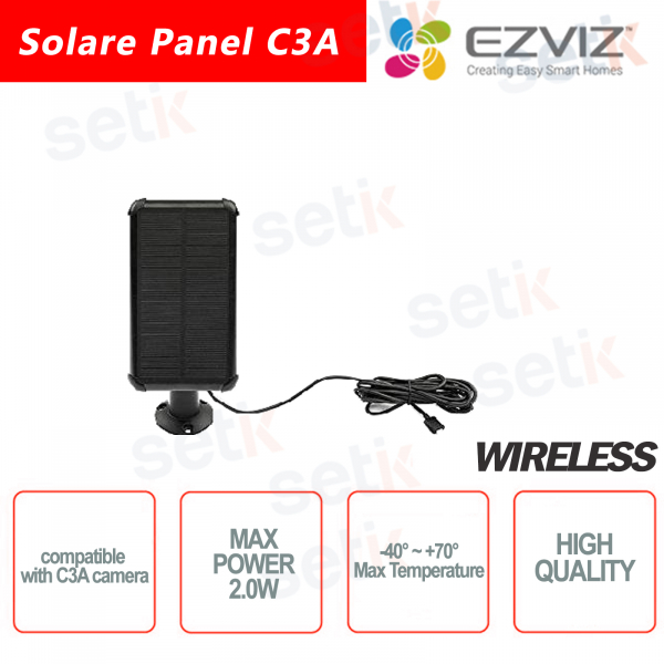 Ezviz Solar Panel compatible with C3A camera
