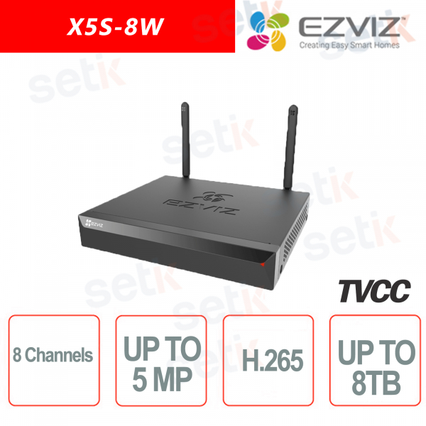 Ezviz Videoregistratore 5 Megapixel 8 Canali fino a 8 TB