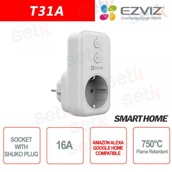 WIFI Presa elettrica con attacco Shuko Smart Home Alexa Google Home EZVIZ