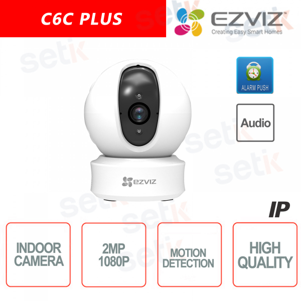 C6C Ezviz Telecamera 4mm IP da interno WIFI 2MP Hikvision IR Audio EZ360