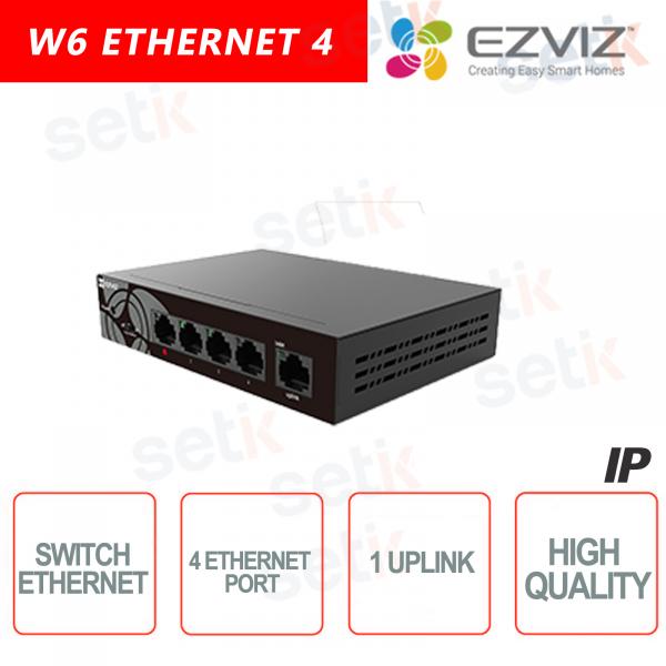 Ezviz Switch 4 Canali Ethernet + 1 Uplink