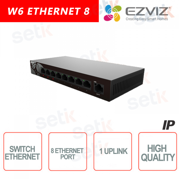 Ezviz Switch 8 Ethernet Channels + 1 Uplink