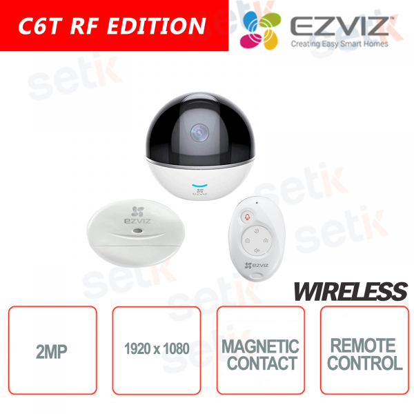 EZVIZ KIT WIRELESS Telecamera 2MP Centrale di allarme Integrata + 1 Contatto Magnetico + 1 Telecomando