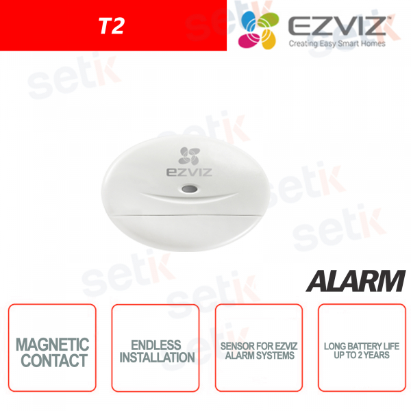 Ezviz Wireless magnetic contact suitable for different types of doors and windows