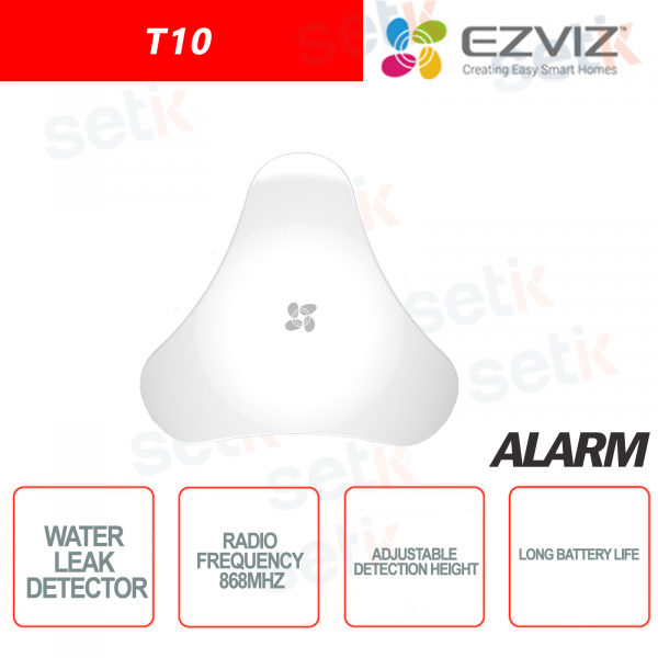 Ezviz Rilevatore di perdite acqua Frequenza 868MHz Batteria a lunga durata