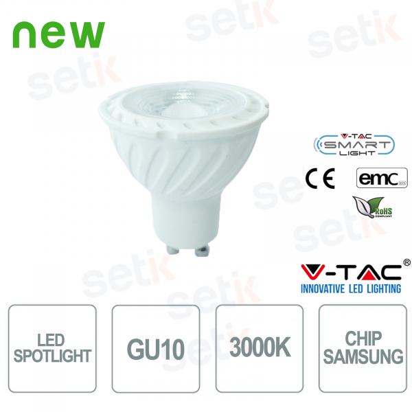 Faretto LED V-Tac Chip Samsung Bianco Caldo 3000K 6,5W GU10