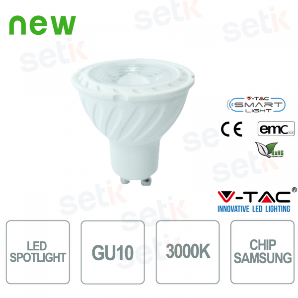 LED Spot V-Tac Chip Samsung Warm White 3000K 6.5W