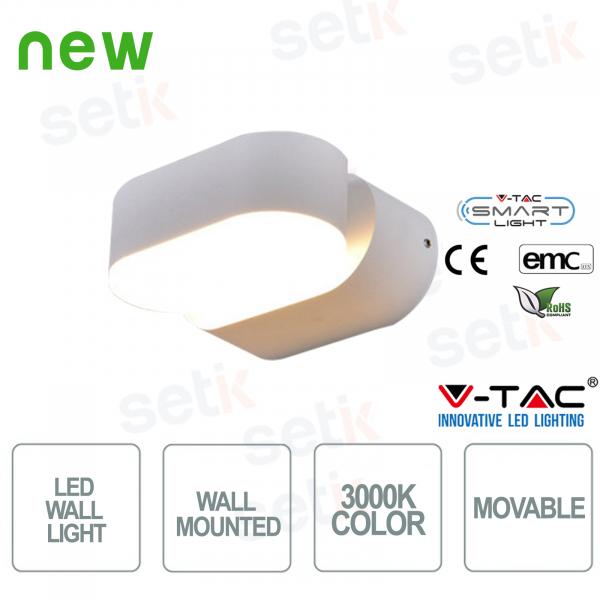 Lampada LED V-Tac da muro con testa ruotabile Colore 3000K IP65