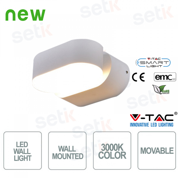V-Tac LED wall lamp with rotatable head Color 3000K