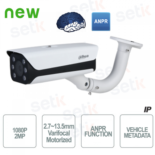 AI Dahua IP external camera PoE 2MP ANPR WDR Motor