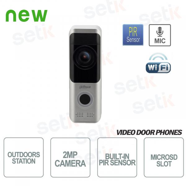 Dahua Postazione Esterna Wireless Videocitofono 2MP FULL-HD telecamera Allarme PIR Audio