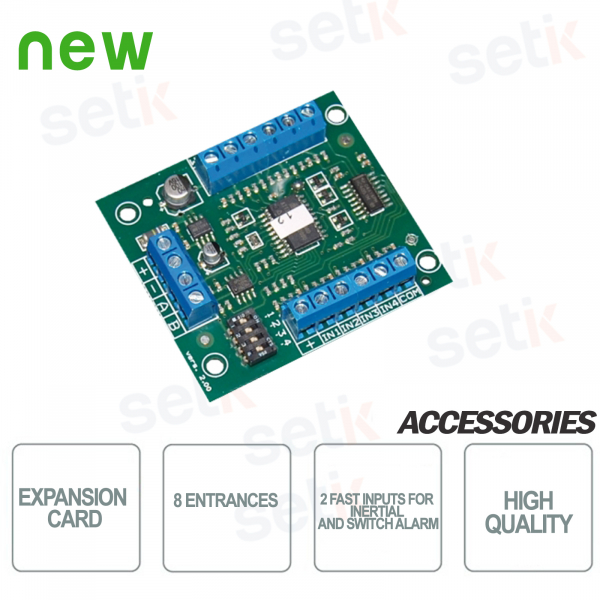 Expansion card 8 configurable inputs -
