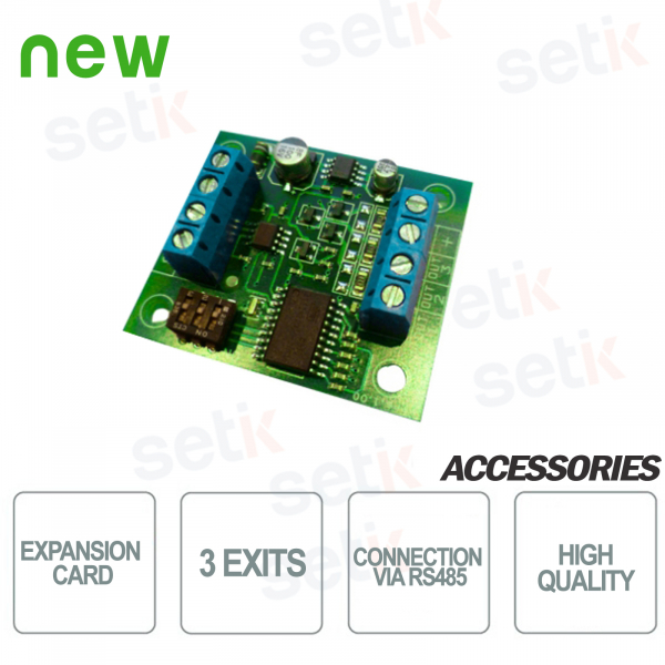 Expansion card 3 freely configurable outputs -