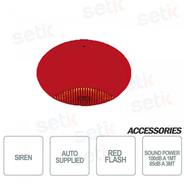 Sirena da esterno autoalimentata scocca Rossa lampeggiante Rosso - AMC