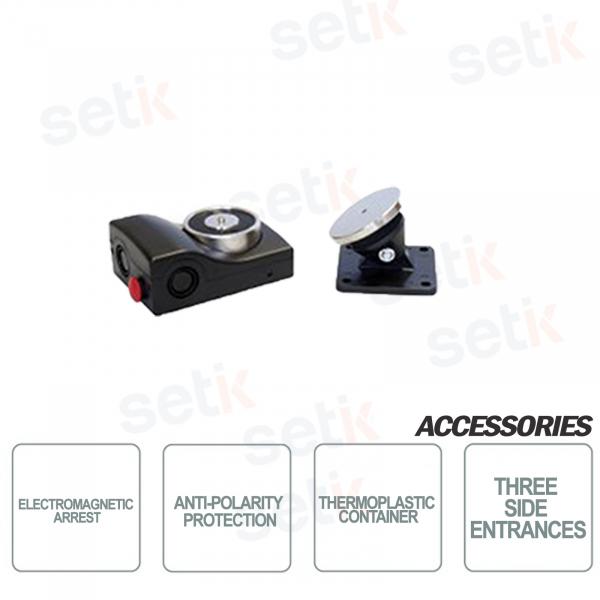 CSA Fermo elettromagnetico in contenitore termoplastico Colore Nero