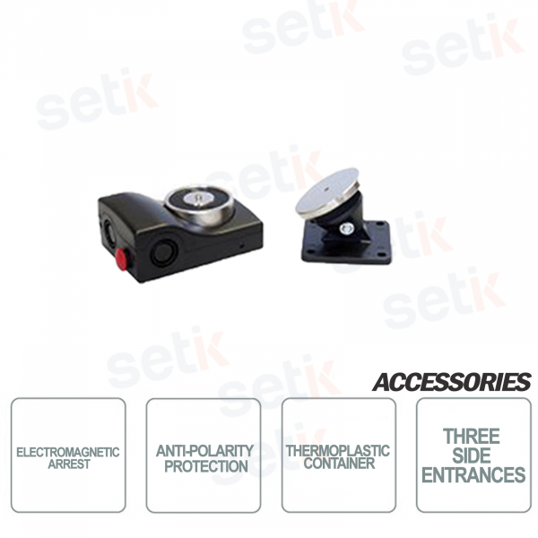 CSA Fermo elettromagnetico in contenitore termoplastico Tensione 24V Colore Nero