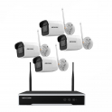 4-Channel 4MP WIFI NVR IP Kit with HDD Pre-installed + 4 4MP Bullet Cameras with 2.8mm Fixed