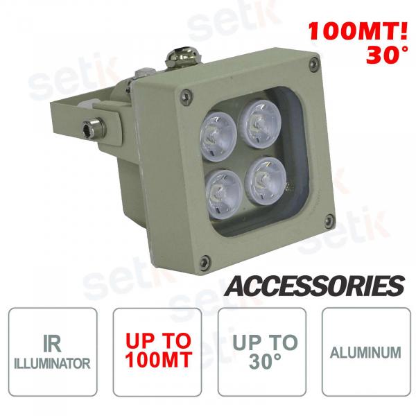 Infrared illuminator for IR 4 LED 100M 30 ° cameras - Setik