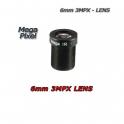 """Obiettivo 6mm. 3MPX. F1.6 1/2.5"""". S-MOUNT.  HFOV 54°"""