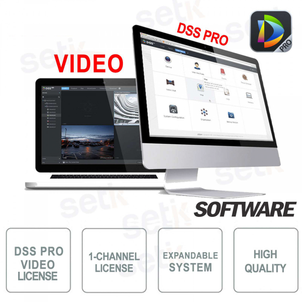 VMS Dahua Software DSS PRO Licenza Video