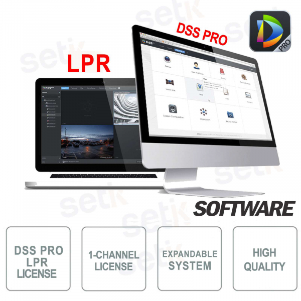 VMS Dahua Software DSS PRO Licenza Lettura Targhe