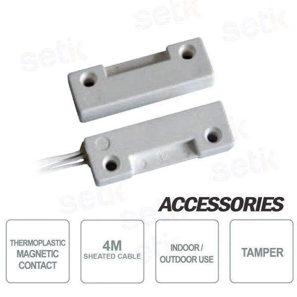 Contatto Magnetico a filo in Termoplastico cavo 4m - CSA