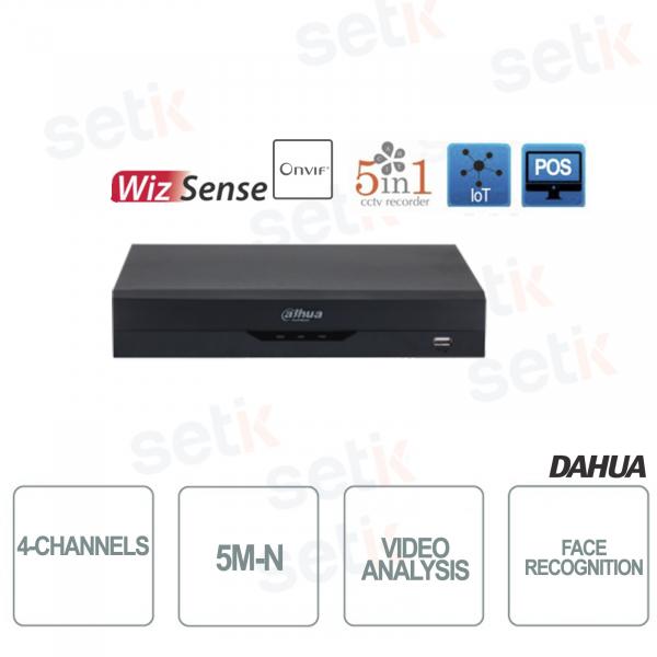 XVR 5in1 H265+ 4 Canali 5M-N WizSense Video Analisi Riconoscimento del volto  - Dahua