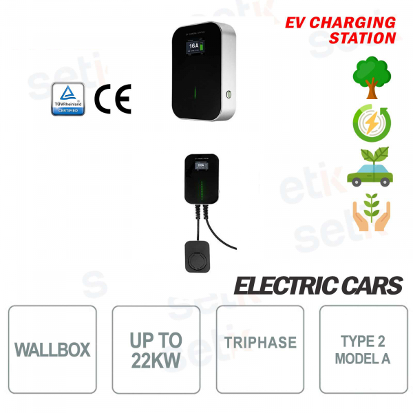 WallBox Charging Station EV Electric Three-Phase 22Kw Female