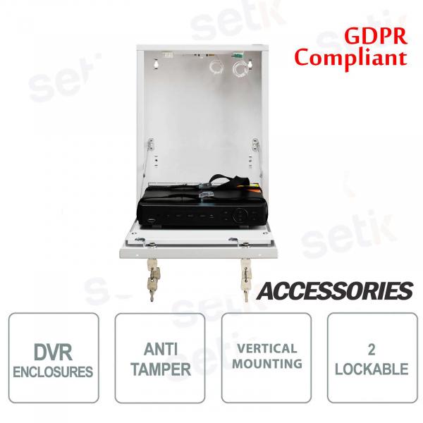 Pulsar contenitore metallico box DVR Tamper - Mini Vertical Bianco