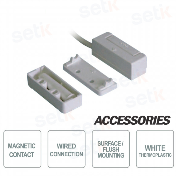 Contatto Magnetico da Incasso o a Vista in Termoplastico 4m  - CSA