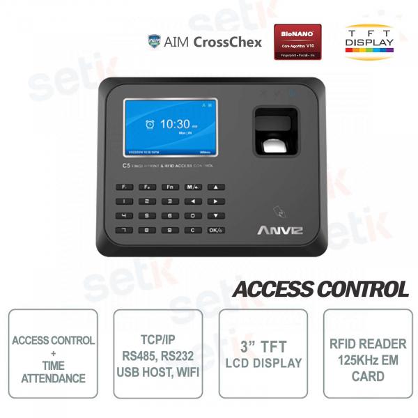 Terminal Access Control and Presence RFID EM 125KHz C5 WiFi Anviz