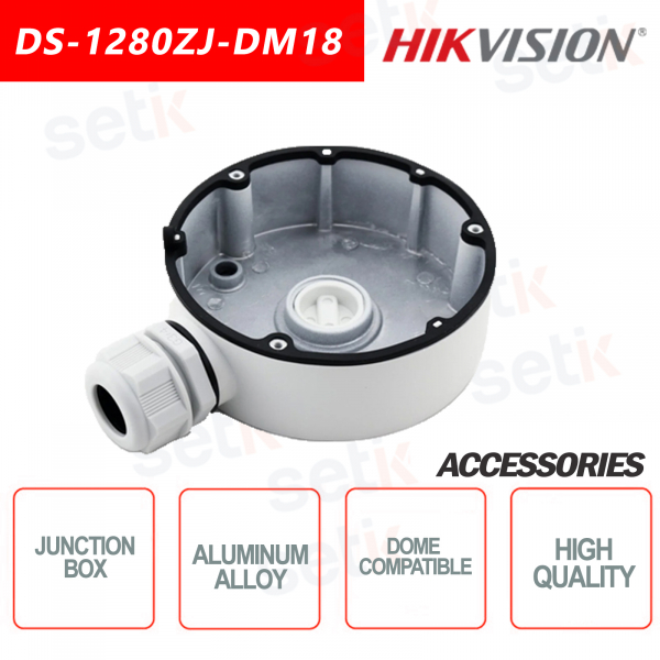 Aluminum alloy junction box for dome cameras - HIKVISION