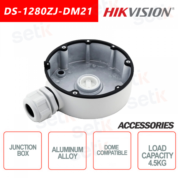 Aluminum alloy junction box for dome cameras Maximum load 4.5KG - HIKVISION