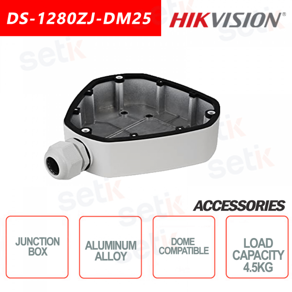 Aluminum alloy Hikvision junction box for dome cameras Maximum load 4.5KG