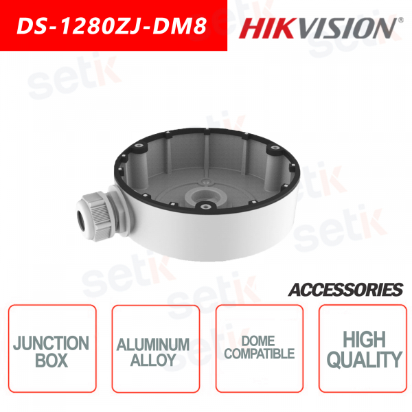 Hikvision Junction box in aluminum alloy for dome cameras
