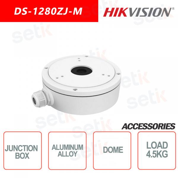 Hikvision Junction box in aluminum alloy for dome cameras Maximum load 4.5KG