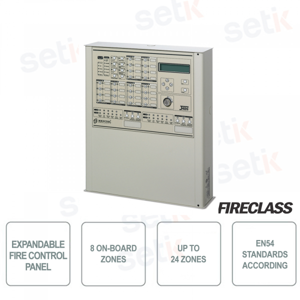 8 Zone Expandable Fire Control Panel 24 - FireClass