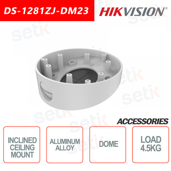 Hikvision Aluminum alloy inclined ceiling mount for dome cameras Maximum load 4.5KG